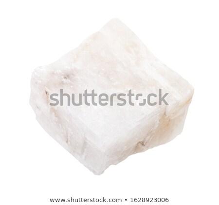 Кальцит минеральный изолированный белый свет черный Сток-фото © jonnysek