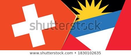 Switzerland and Antigua and Barbuda Flags Stock photo © Istanbul2009