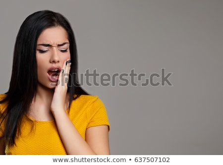 woman with a toothpain stock photo © nobilior