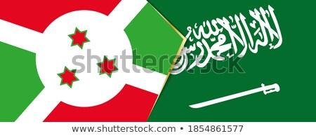 Szaúd-Arábia Burundi zászlók puzzle izolált fehér Stock fotó © Istanbul2009