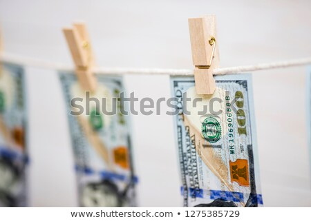 Dollars Hanging on Rope with Clothespins Stock photo © kirs-ua