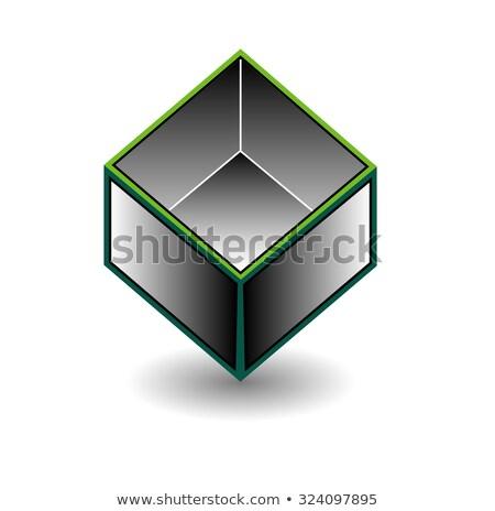 üreges kocka űr nyitva felső ház Stock fotó © shawlinmohd