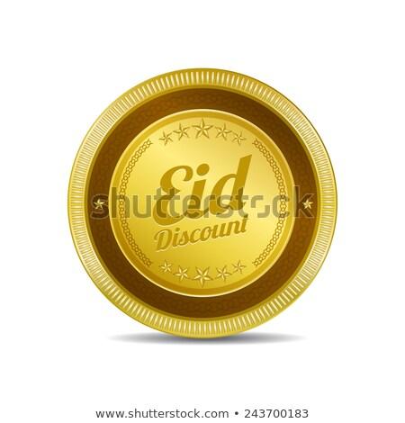 desconto · dourado · vetor · ícone · botão - foto stock © rizwanali3d