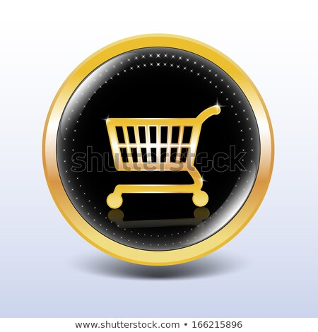 Add To Cart Golden Vector Icon Button Stock photo © rizwanali3d