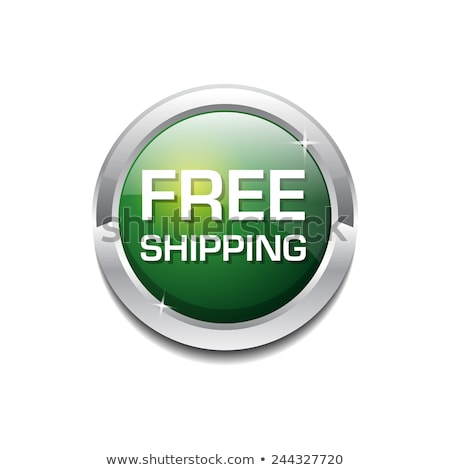 free shipping glossy shiny circular vector button stock photo © rizwanali3d