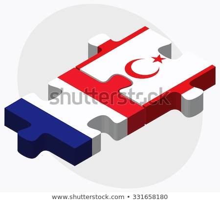 France and Turkish Republic of North Cyprus Flags  Stock photo © Istanbul2009