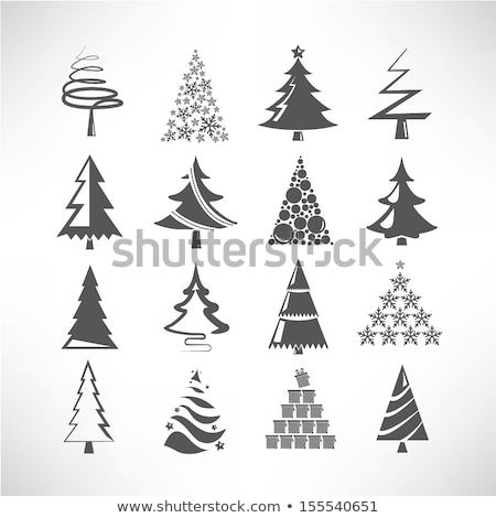 Simple minimalistic vector christmas tree  Stock photo © orson