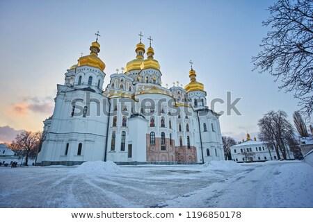 kápolna · forrás · fény · hó · templom - stock fotó © Onyshchenko