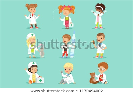 boy with stethoscope and toy stock photo © Paha_L