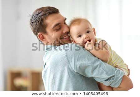 ребенка · пальца · стороны · лице · счастливым · пару - Сток-фото © Paha_L