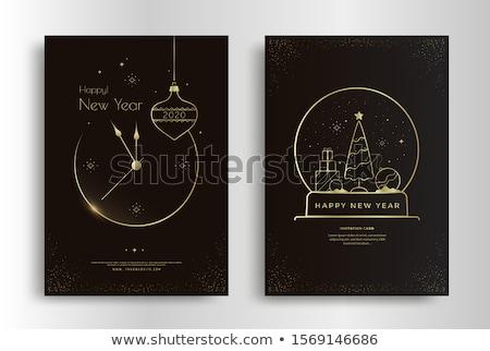 Navidad · azul · fondo · noche - foto stock © mikko
