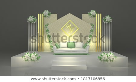 Bruiloft fase room goud bloemen licht Stockfoto © esatphotography