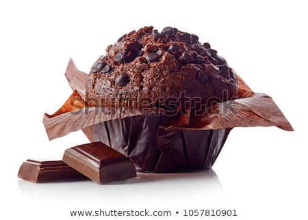 Chocolate muffin aislado blanco alimentos fondo Foto stock © shutswis