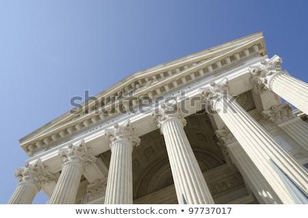 Old courthouse with blue sky stock photo © njnightsky