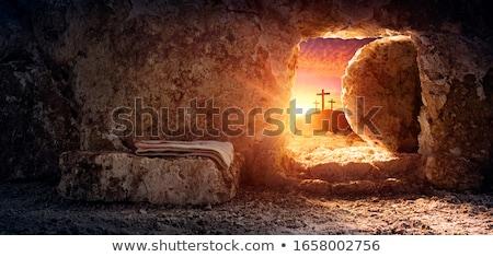 закат Иисус Христа ходьбе пляж солнце Сток-фото © rghenry
