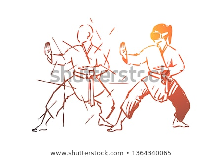 Woman in japanese martial art concept Stock photo © Elnur