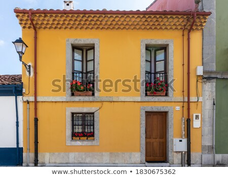 typisch · spaans · woon- · huizen · zwembad · huis - stockfoto © amok