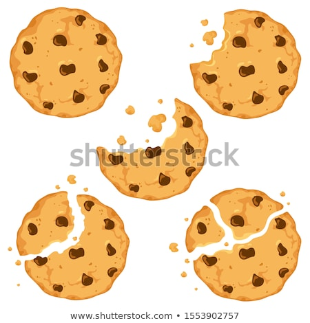 vector set of chocolate chip cookies stock photo © freesoulproduction