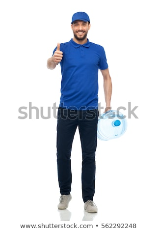 man in polo shirt showing thumbs up sign stock photo © feedough
