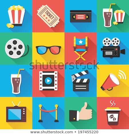 Film fogalmak szett színes mozi készít Stock fotó © Genestro