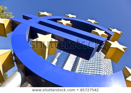 the euro sign on a sunny day frankfurt am main germany stock photo © meinzahn
