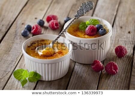 Foto stock: Creme Brulee Dessert
