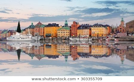 Sztokholm miasta wygaśnięcia starówka wody samochodu Zdjęcia stock © mikdam