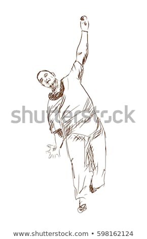 sketches of a man playing baseball stock photo © bluering
