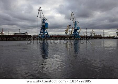Mer port bleu nuageux ciel eau Photo stock © Perszing1982
