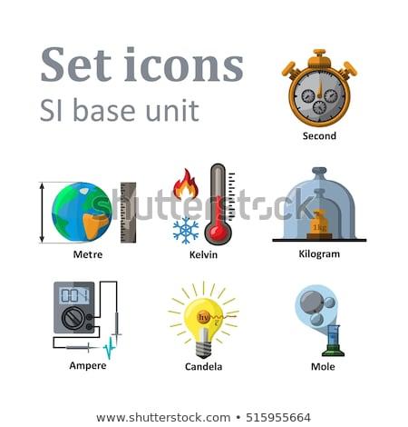 birim · ikon · parlak · düğme · dizayn · teknoloji - stok fotoğraf © angelp