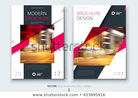 Pink  business brochure flyer design layout template in A4 size  Stock photo © ganpanjanee