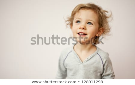 Happy little girl with toothy smile Stock photo © ozgur