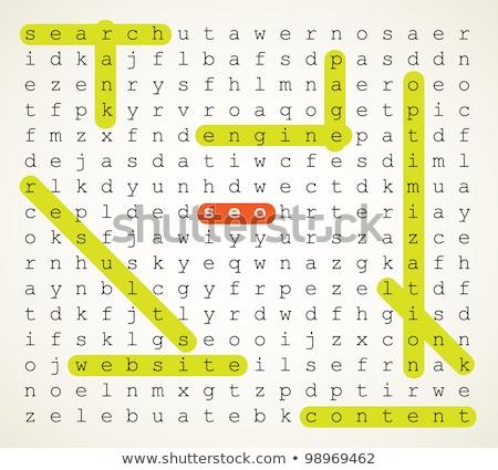 Bilmece kelime seo puzzle parçaları Internet inşaat Stok fotoğraf © fuzzbones0