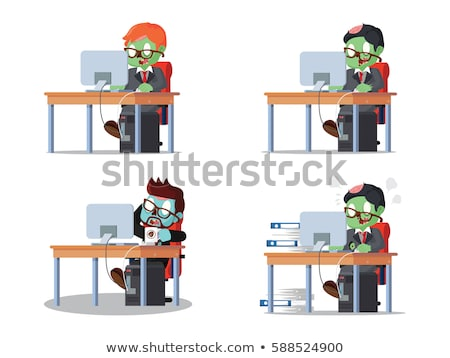 An office worker zombie Stock photo © bluering