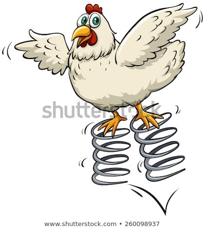 脂肪 春 鶏 女性 白 卵 ストックフォト © bluering