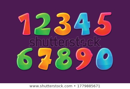 Icons volumetric numerals, vector illustration. Stock photo © kup1984