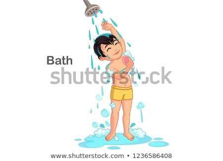 A young boy taking a bath Stock photo © bluering