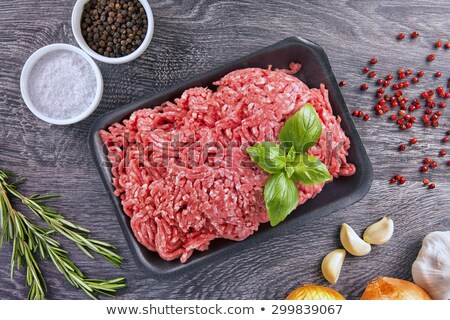 Close up on a container of fresh ground beef Stock photo © ozgur