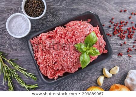 grond · rundvlees · ui · witte · achtergrond · vlees - stockfoto © ozgur