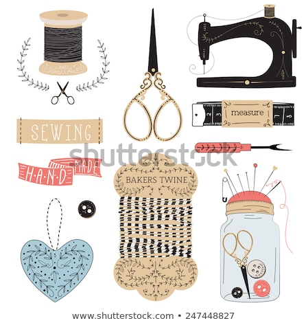 vintage scissors and buttons Stock photo © mady70