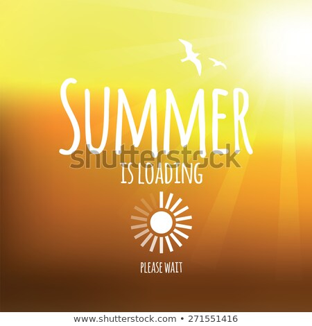 Creative graphic message for your summer design - Vector blurred background stock photo © Natali_Brill