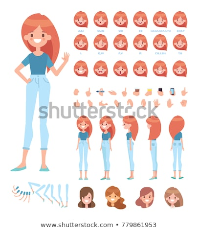 sporty cartoon character collection stock photo © lukas101