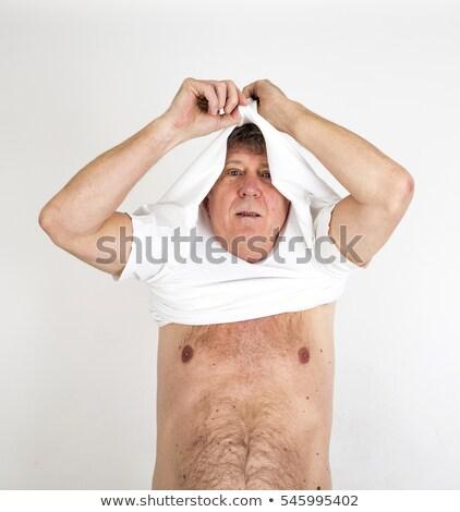 портрет положительный глядя зрелый человек одевание вверх Сток-фото © meinzahn