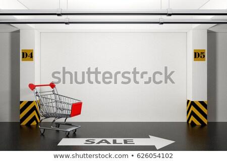 abandoned empty cart in shopping mall underground garage parking stock photo © stevanovicigor