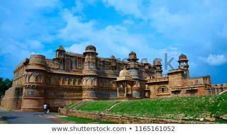 Man paleis amber fort Indië Stockfoto © searagen