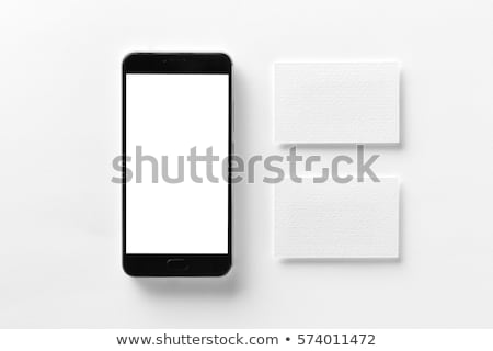 Smart phone and blank business card, mock up copy space Stock photo © stevanovicigor