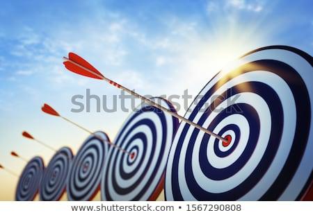 Iş gol başarı örnek hedef el Stok fotoğraf © kali