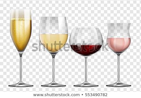 прозрачный · шампанского · стекла · белое · вино · ретро - Сток-фото © bluering