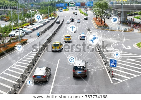 City transport system with vehicles on a road.  Stock photo © kali