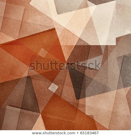 Abstract oranje meetkundig achtergrond behang Stockfoto © SArts
